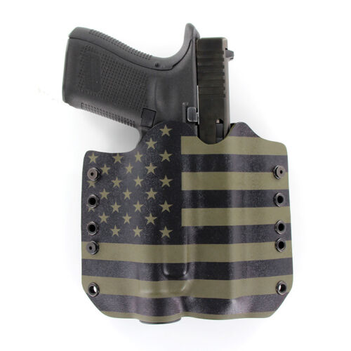OWB Kydex Holster for 50+ Hanguns with SUREFIRE X300 - USA GREEN & BLACK