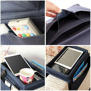 Arm Rest Organizer Pocket Caddy Tray Holder For Couch