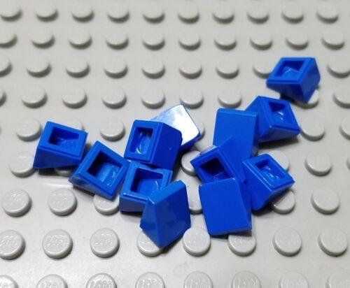 LEGO Lot of 12 Blue 1x1x2/3 Mini Slope Pieces Parts
