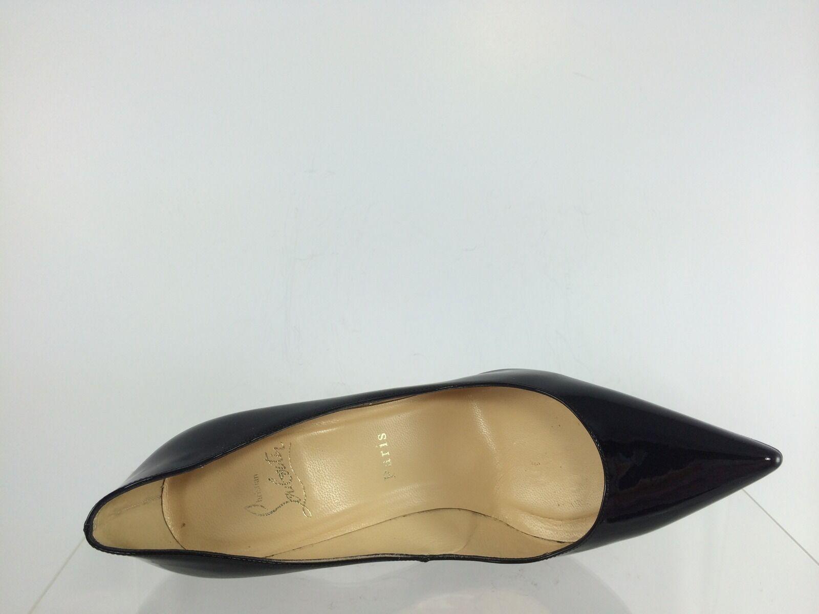 Christian Louboutin Womens Decollete 554 100 Patent Patent Patent Leather Black  shoes 38.5 24e028