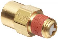 "Control Devices Brass Ball Check Valve, 1/4"" NPT Female x NPT Male"