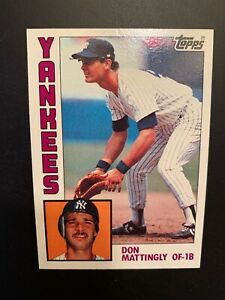 1984-Topps-Don-Mattingly-8-Rookie-Card-New-York-Yankees-MLB-Baseball