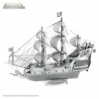 Fascinations Iconx Queen Anne Revenge Ship 3d Metal Earth Laser Cut Model Kit