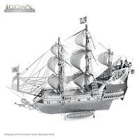 Fascinations Iconx Queen Anne Revenge Ship 3d Metal Earth Laser Cut Model Kit