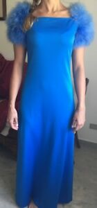 Caricamento dell immagine in corso Vestito-da-sera-azzurro-originale-anni-60 89895f51b38
