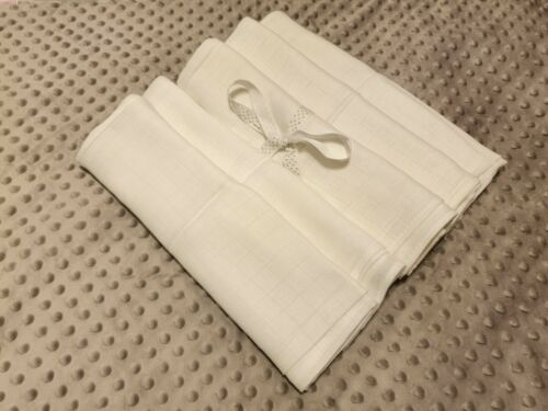 5 x Muslin White LUX Squares 70 x 80cm 100/% Cotton Pieluchy Tetrowe FREE P/&P