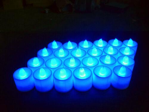 10//50PCS LED Electronic Candle Tea Light Realistic Blue Flickering Lamp RLM710