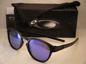 220547f32 Oakley Latch Matte Black w Violet Iridium Lens NEW Sunglasses ...