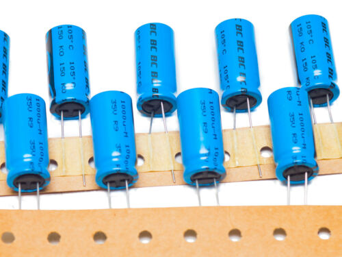 10pcs 1000uF 35V 105/'C BC Components 150 RMI radial electrolytic capacitor