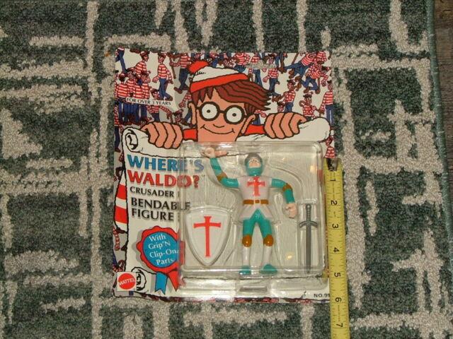 WHERE/'S WALDO Bendable Bendy Figure Toy MATTEL 1991 NEW PIRATE
