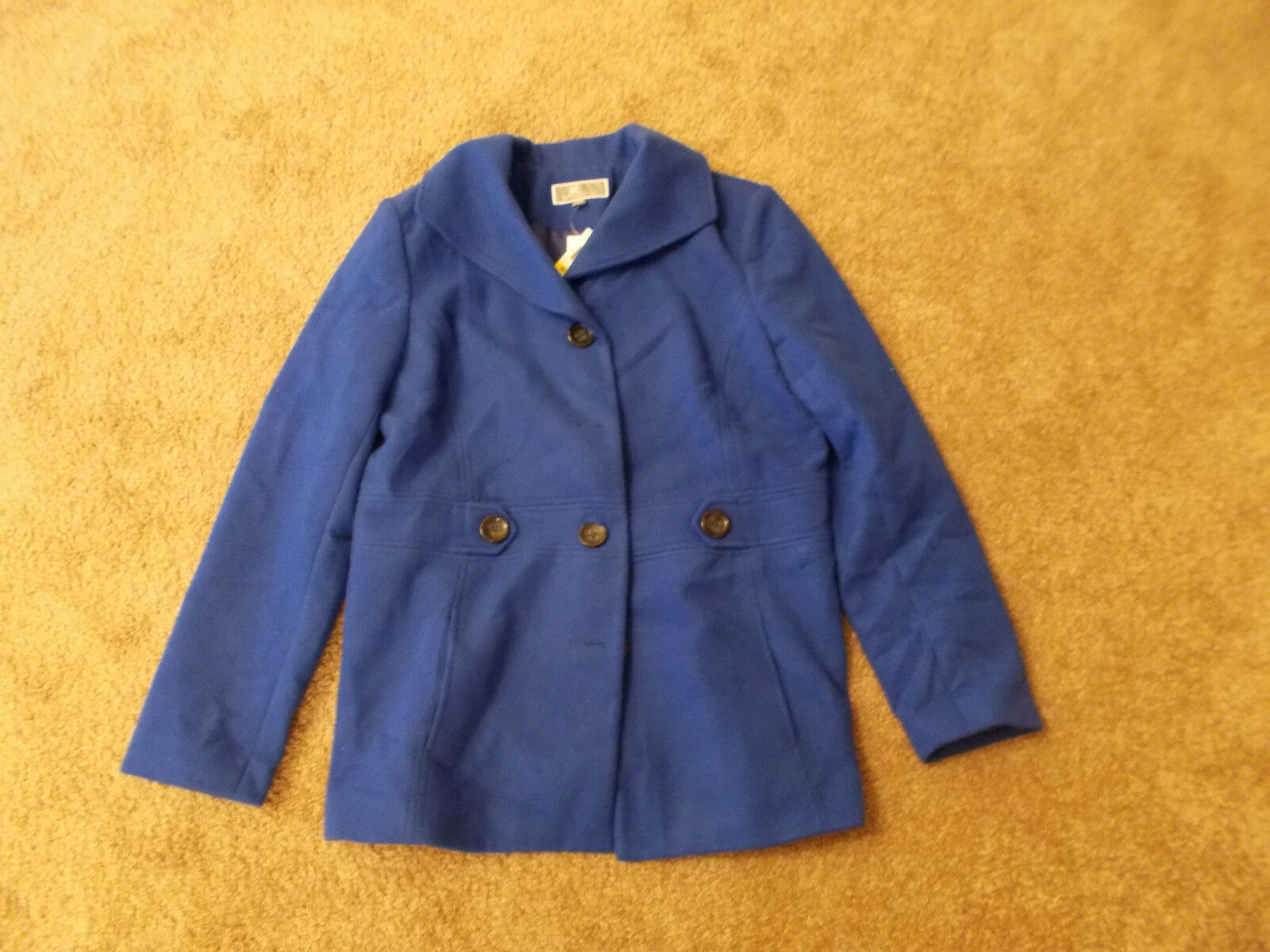 NWT JM Collection Womens Lined Coat-color-bluee-Size-Med.-Retail-