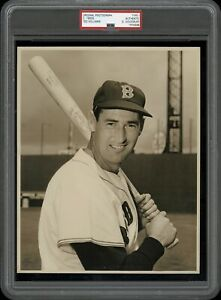 Ted-Williams-1950-Type-1-Original-Photo-PSA-DNA-1954-amp-1955-Topps-Card-Image