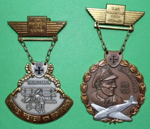 2 Pcs. Badges Aircraft, Hartmann and Richthofen