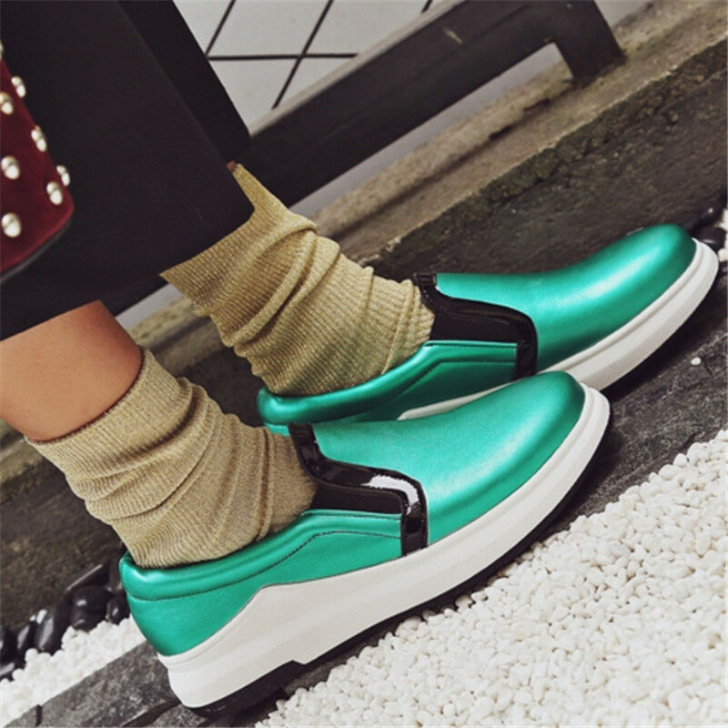 Women's Athletic Slip On Glitter Round Toe Boat Sneaker Comfy Casual shoes Size
