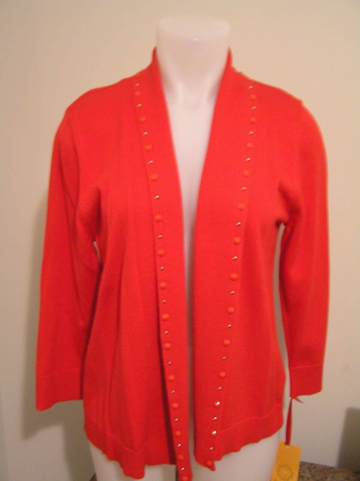 SWEATER RED SIZE M WOMEN RUBY RD NEW NWT