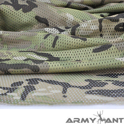 "Multicam Pattern Camo Camouflage Net Cover Army Military 60""W Mesh Fabric Cloth"