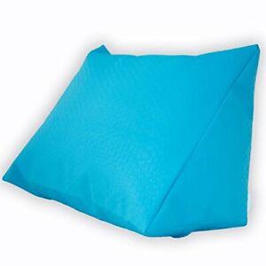 R/ückenst/ütze f/ür Bett Couch Keilkissen Gr/ö/ße 60cm x 50cm H/öhe 30cm blau Fernsehen und Tablet Relaxkissen Lesekissen