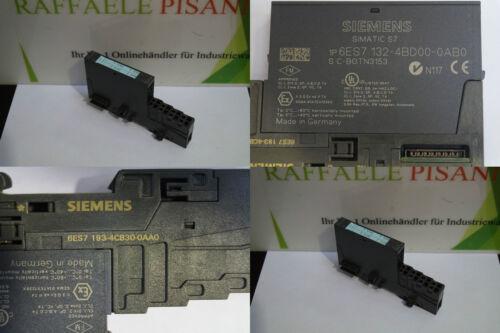 SIEMENS SIMATIC S7 6ES7 193-4CA50-0AA0 6ES7 132-4BD00-0AB0 mit Sockel u.ä.
