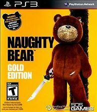NAUGHTY BEAR GOLD EDITION - SONY PLAYSTATION 3 PS3 GAME COMPLETE CIB