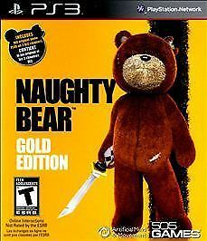 Naughty Bear Gold Edition Sony Playstation 3 2011 For Sale
