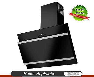 Hotte aspirante MAAN Vertical Bis 400! 60cm, Noir + Satin + Verre Noir!Enchère4