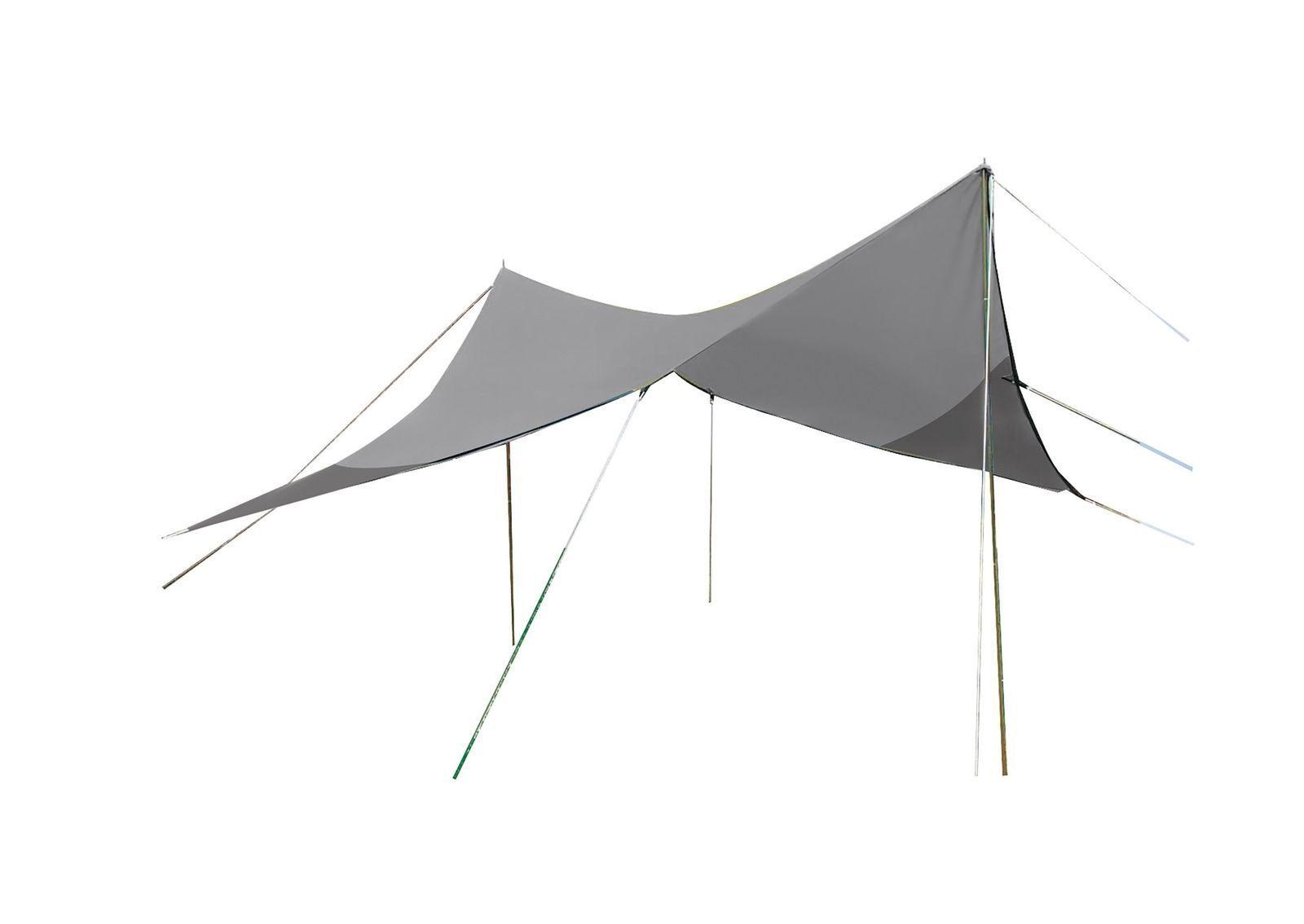 BO-CAMP Travel Tarp 4 x 4 4 4 m Grau 6ced34