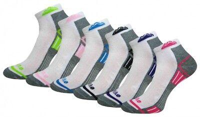 12 Paia Donna Trainer Liner Alla Caviglia Con Suola Imbottita Women's Socks Lotto Tg 4-7-mostra Il Titolo Originale