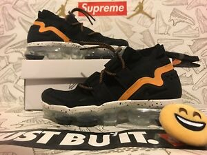 543df45b07f08 New Nike Air Vapormax FK Utility Black Orange Peel AH6834-008 MEN SZ ...