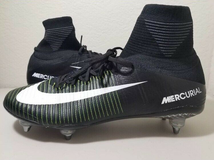 Nike Mercurial Superfly V SG 11 Black White Green Navy Soccer Cleats 845050-014