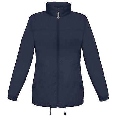 Ladies Lightweight Kagoul Rain Coat Jacket Mac Kagool Cagoule Windproof  Womens