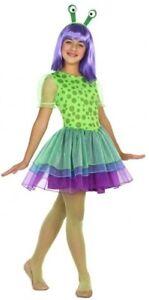 Acheter Pas Cher Les Filles De L'espace Extra-atmosphérique Martien Alien Halloween Fancy Dress Costume Outfit 3-12 Ans-afficher Le Titre D'origine