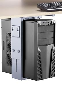 SpeaKa Professional PC Halterung Untertisch Horizontal SP-6353556 Sil Vertikal