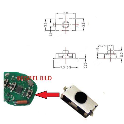 Schlüssel Microtaster für Renault Rover Seat Skoda Smart Volvo VW Toyota Subaru