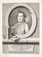 c1775 Beck Andreas Georg Kupferstich-Porträt Bischoff Ihle Nürnberg Pädagoge