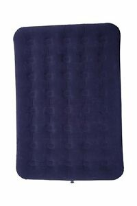 Mountain Warehouse Flocked Airbed in Navy w/Soft Velour Finish - 191x173x22cm