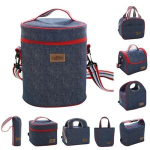 Details About Lunch Box Insulated Bag Large Cooler Tote For Men Women Kids