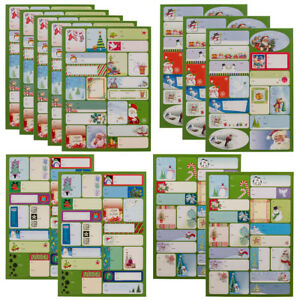 240ct peel stick holiday gift tag stickers christmas labels plain
