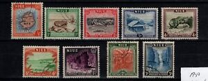 Niue-New-Zealand-1950-incomplete-set-missing-9d-SG-113-122-Used