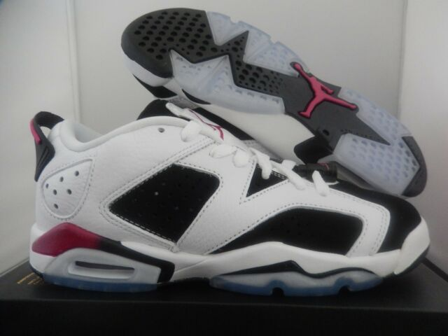 check out 687f5 de459 NIKE AIR JORDAN 6 RETRO LOW GG WHITE-PINK SZ 5.5Y-WOMENS SZ