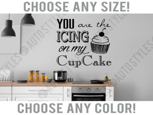 Icing to My Cupcake Kitchen Baking Words Wall Decal Home Decor Vinyl Art Sticker