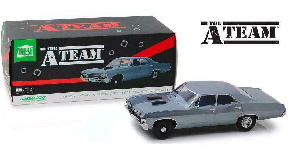 1 18 vertlight gl19047 1967 Chevrolet Impala Sport Sedan A-Team TV Série