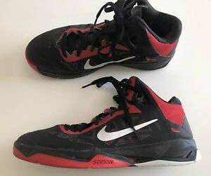 9a1770b0aaed Nike Zoom Hyperchaos 9.5 Mens High Top Basketball Sneakers Red Black ...