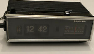 Vtg-70s-Panasonic-Flip-Clock-Radio-AM-FM-Alarm-Model-RC-7021-Numbers-Flip-amp-Works