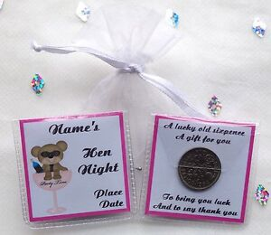 Image Is Loading Personalised Hen Night Party Thank You Guest Lucky