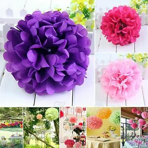 Wedding-Party-Colorful-Tissue-Paper-Pom-Poms-Flower-Balls-Birthday-6-034-8-034-10-034-14-034-18-034