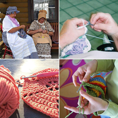 12Pcs Ergonomic Crochet Hooks Set Soft Needles Crafts Sewing Knitting Hooks Tool