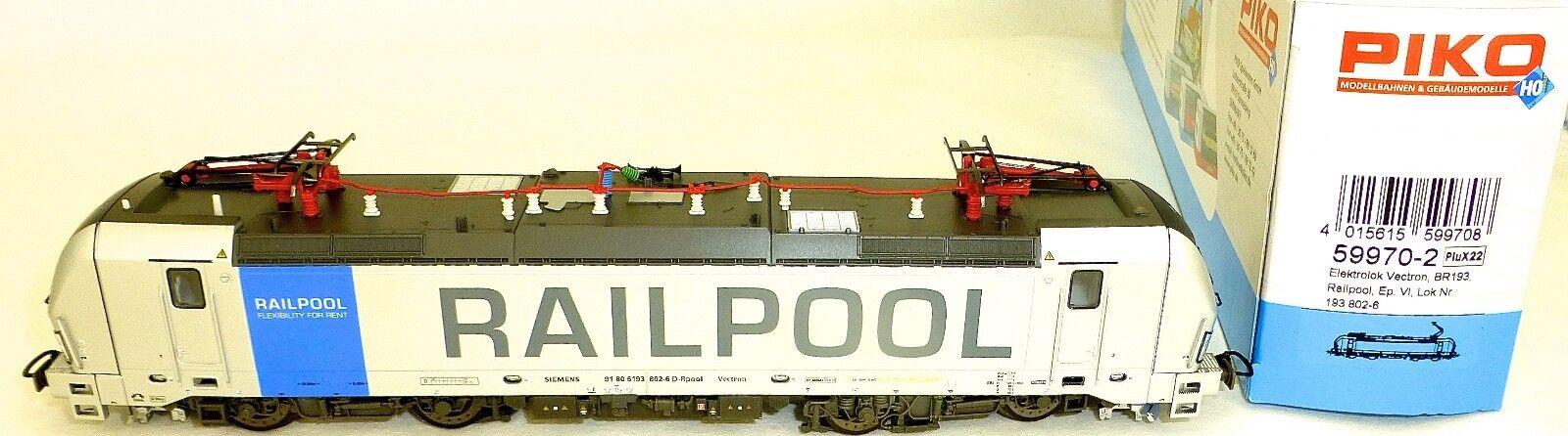 Br 193 802-6 ellok VECTRON Railpool epVI Plux22 PIKO 59970-2 H0 1 87
