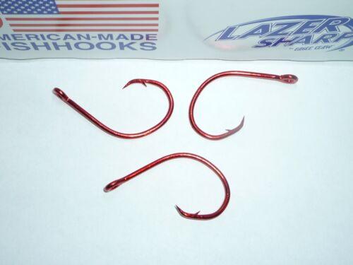 mer Garde Rouge-En Vrac 100 Eagle Claw LAZER SHARP Circle Mer Crochets-Taille 3//0