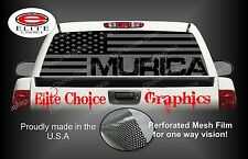 Murica Gray America Flag 2 Rear Window Graphic Decal Sticker Truck Car SUV