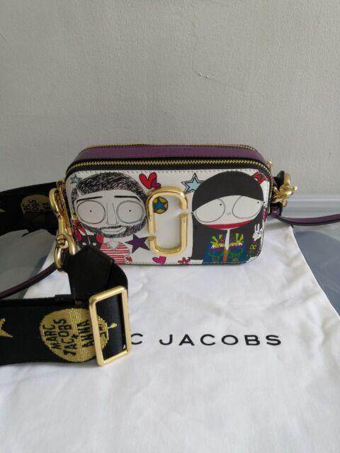 0e1ab70e3 Marc Jacobs Snapshot Small Camera Bag Crossbody Bag Anna Sui Printed Purple  Com